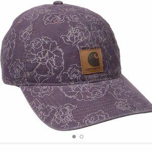 Carhartt Women Purple Floral Design Baseball Hat